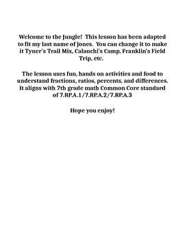 Comparison Statements - Jones' Jungle