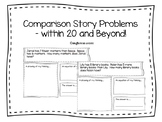 Comparison Story Problems - Within 20 and Beyond