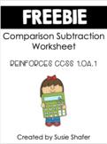 Comparison Subtraction Number Stories Worksheet (FREEBIE!)