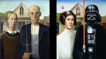 Comparison Text-Structure Foldable - American Gothic and Parody