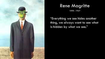 Comparison Text-Structure Foldable - Rene Magritte and Pep Carrio