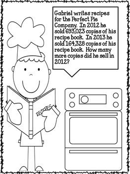Comparison Word Problems Bakery Bulletin Board Activity