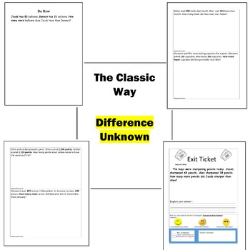 Comparison Word Problems Compare 2nd 3rd second Grade 3 types