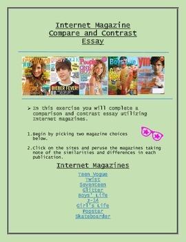 Comparison and Contrast Essay Utilizing Internet Magazines