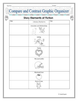 Comparison and Contrast Graphic Organizer for Fiction