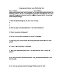 Comparison and Contrast Peer Review Sheet