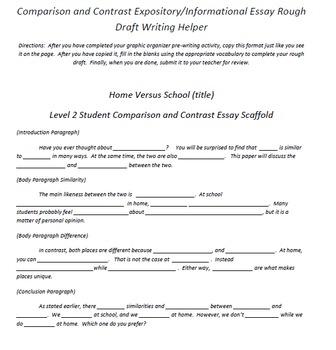 Comparison essay topics