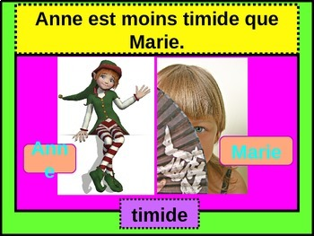 Comparatif (Comparison in French) power point