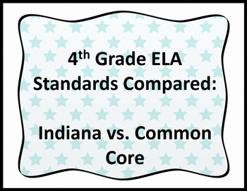 Comparison of CCSS Numbers and Indiana Standards Numbers