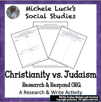 Comparison of Christianity to Judaism Research ORQ