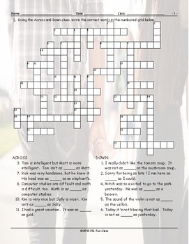 Comparisons-As + As Crossword Puzzle