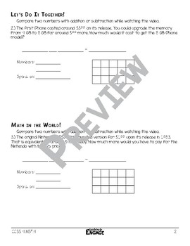 Comparisons With Addition & Subtraction Math Video & Worksheet