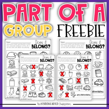 Comparisons and Parts of a Group FREEBIE