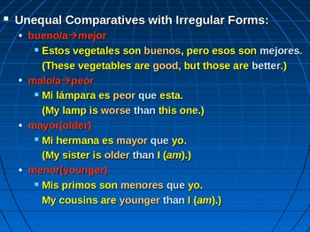 Comparisons and Superlatives (Powerpoint Presentation)