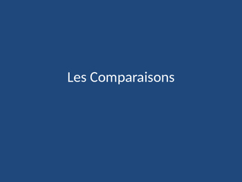 Comparisons in French