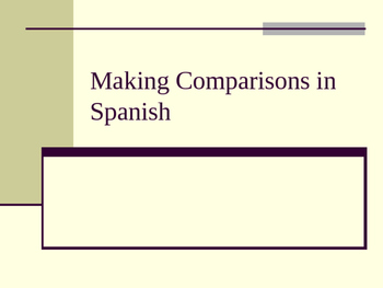 Comparisons in Spanish PowerPoint