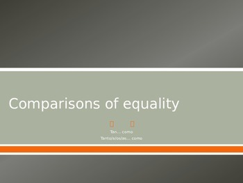 Comparisons of Equality Practice 1