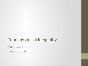 Comparisons of Inequality Practice 1
