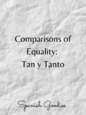 Comparisons of equality: Tan/Tanto