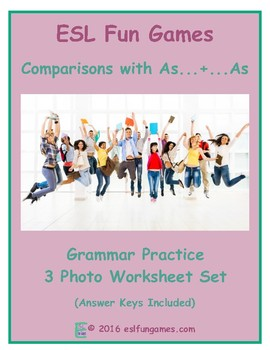 Comparisons with As...+...As 3 Photo Worksheet Set