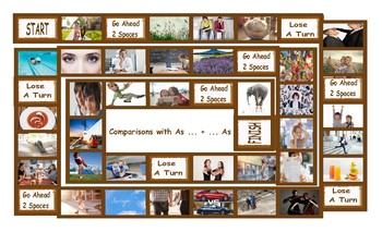 Comparisons with As ... + ... As Legal Size Photo Board Game