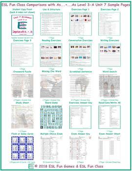 Comparisons with As...+...As Level 3-A Unit 7 Bundle