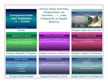 Comparisons with As...+...As Spanish PowerPoint Presentation