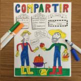 Compartir color by conjugation Spanish verb practice No prep printable -ir verbs