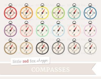 Compass Clipart; Nautical, Sailing, Sailor, Ship, Boat, Camping