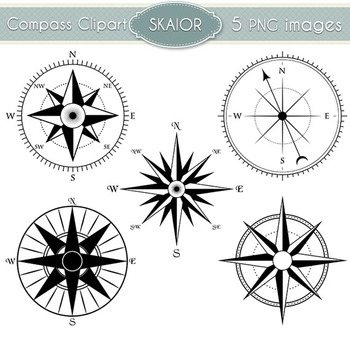 Compass Clipart Nautical Clip Art Marine Scrapbooking Vector Compass Rose