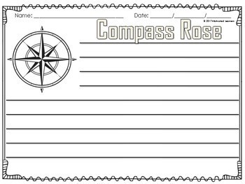 Compass Rose Craft and Writing | Social Studies Activity