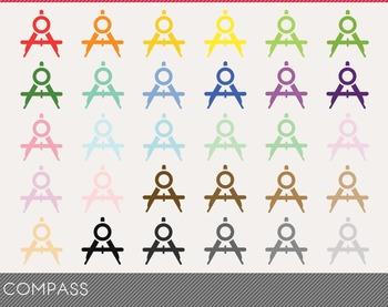 Compass Digital Clipart, Compass Graphics, Compass PNG