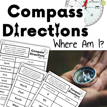 Compass Directions & Angles: Math Challenge - Shape, Space, and Measure Activity