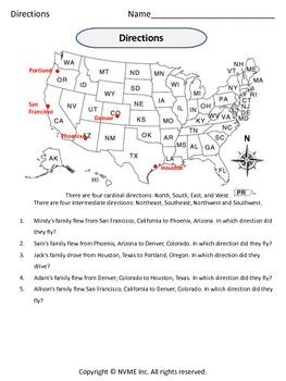 Compass Directions Quiz