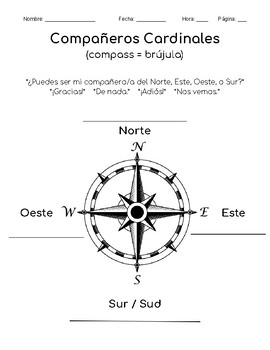 "Compass Partners in Spanish - ""Compañeros Cardinales"""