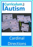 Compass Points Cardinal Directions Geography Map Skills, Autism Special Ed