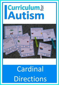 Comp Points Cardinal Directions Geography Map Skills, Autism ... on