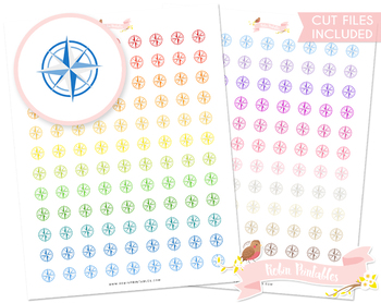 Compass Printable Planner Stickers