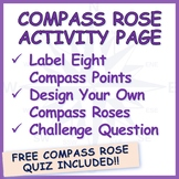 Compass Rose Activity Sheets and Quiz