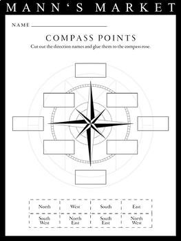 Compass Rose Cutout Worksheet