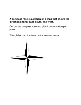 Compass Rose Directions / Map Activity