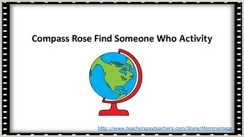 Compass Rose Find Someone Who Activity