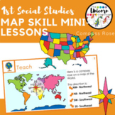 Compass Rose Map and Globe Skills Google Slides Lessons