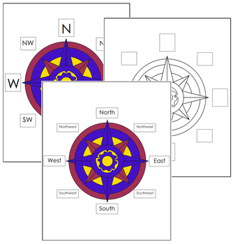 Compass Rose Printable By Montessori Print Shop Tpt