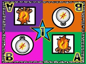 Compass and Campfire Camping Theme Kagan Inspired Team Mats