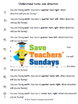 Compass points lesson plans, worksheets and more