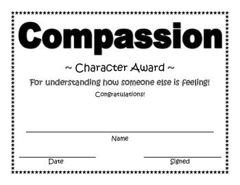 Compassion Character Award