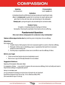 Compassion Character Lesson Plan