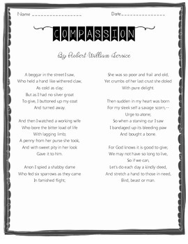 Compassion Poem and Verses