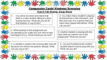 Compassion Scenarios/Kindess Cards